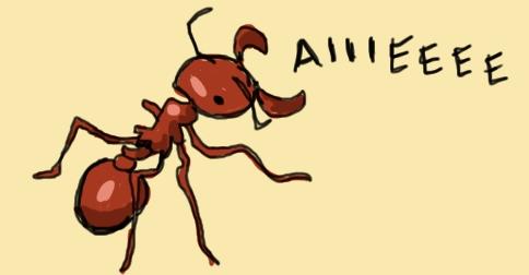 Screaming Harvester Ant by Amanda Wood