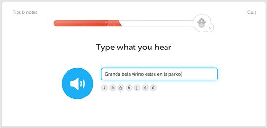 Duolingo - Esperanto Exercise