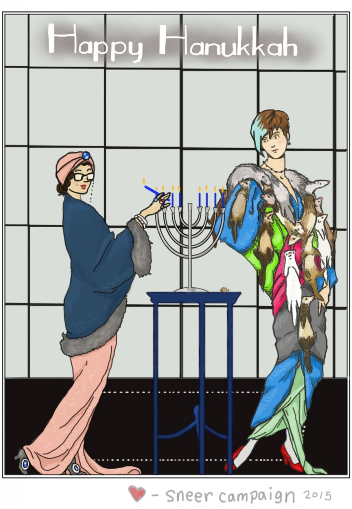 Happy Hanukkah from Sneer Campaign by Amanda Wood