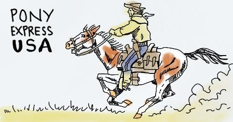 The Pony Express by Amanda Wood