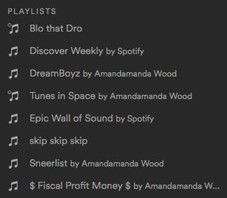 Spotify Playlists for Amandoll Week