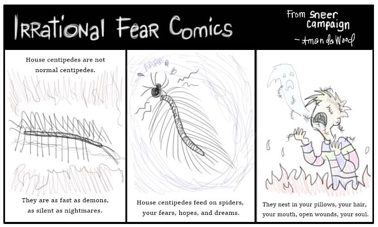 Irrational Fear Comics: House Centipedes by Amanda Wood