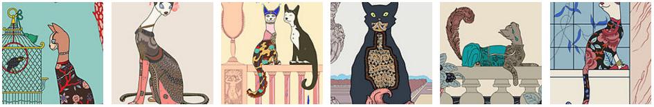 Art Deco Cats