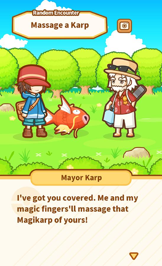 Pokemon Magikarp Jump - I've got you covered. Me and my magic finger'll massage that Magikarp of yours!